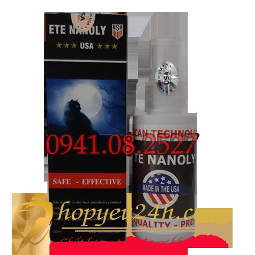 Ete Nanoly Gây mê cao cấp 2 trong 1 siêu mạnh mới nhất Của Mỹ